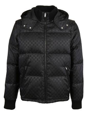 Gucci Gg Jacquard Padded Jacket