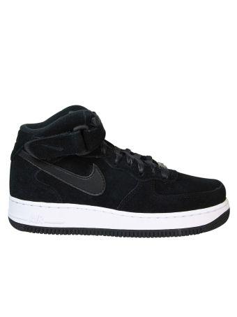 Black Air Force Hi-top Sneakers