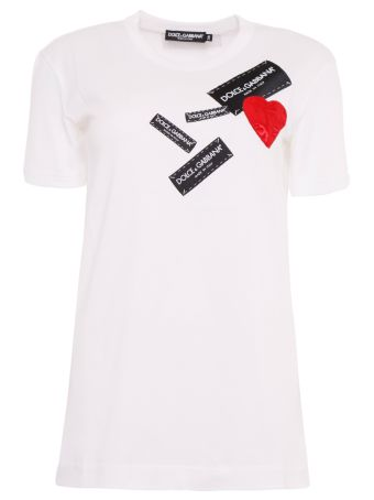 Logo And Heart Patch T-shirt
