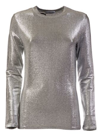 Paco Rabanne Metallic Long Sleeve T-shirt