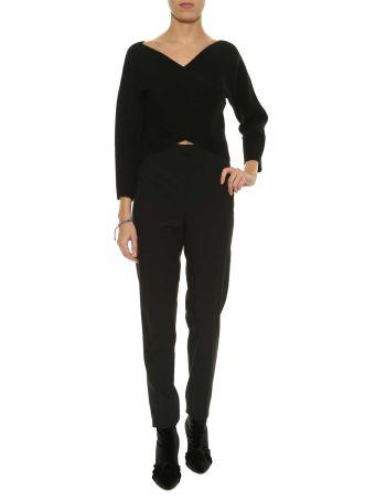 Diane Von Furstenberg Knit Top Neck Faux