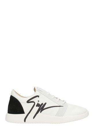 Giuseppe Zanotti G Runner White Leather Sneakers