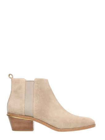 Michael Kors Crosby Beige Leather Boots