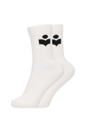 Isabel Marant Visby Cotton Logo Sock
