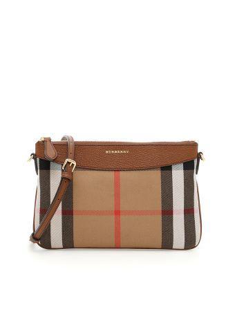 Peyton Leather And Check Bag
