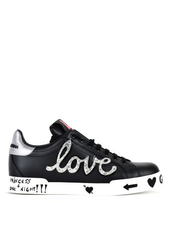 Dolce & Gabbana Dolce Gabbana London Sneaker With Love Patch