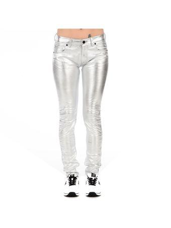 Silver Skinny Pants