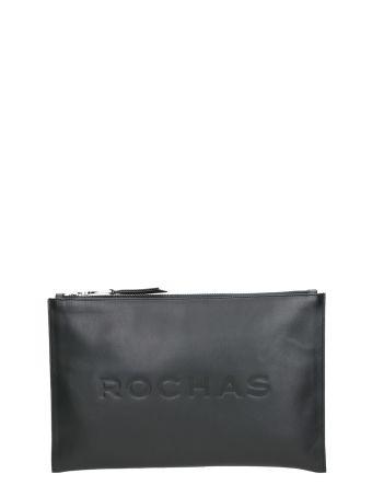 Rochas Lethi Logo Embossed Clutch