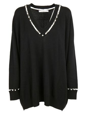 Givenchy Pearl Trim Sweater