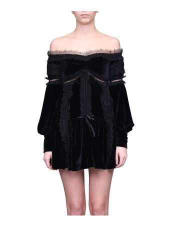 WANDERING Velvet Dress