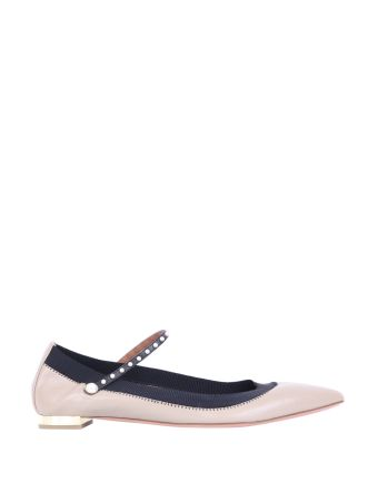 Aquazzura Nolita Embellished Leather Flats