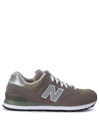 Sneaker New Balance 574 In Grey Mesh Suede And Fabric
