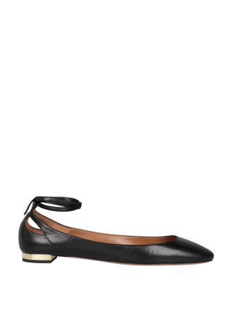 Aquazzura Heart Breaker Leather Flats