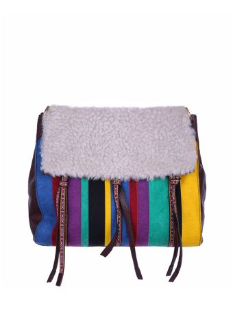 Etro Shearling And Leather Bag