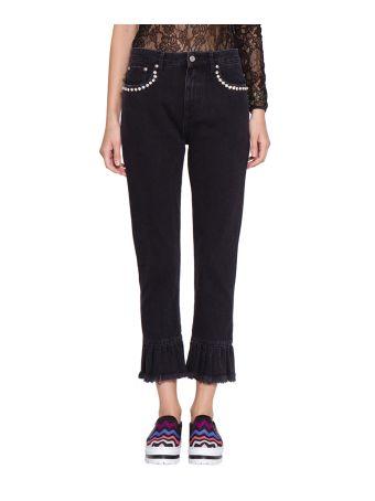 MSGM Cotton Denim Jeans