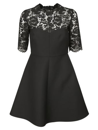 Valentino Lace Crepe Couture Dress