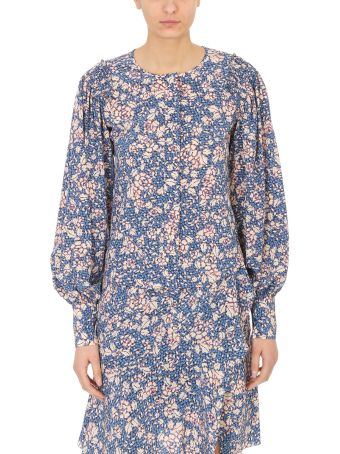 Isabel Marant Berny Flowers Silk Blouse