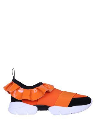 Emilio Pucci Ruffled Elastic Sneakers