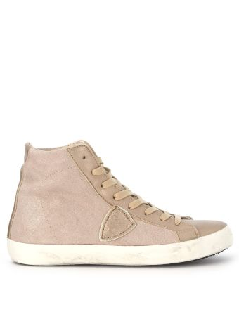 Sneakers Alta Philippe Model Paris In Suede Champagne