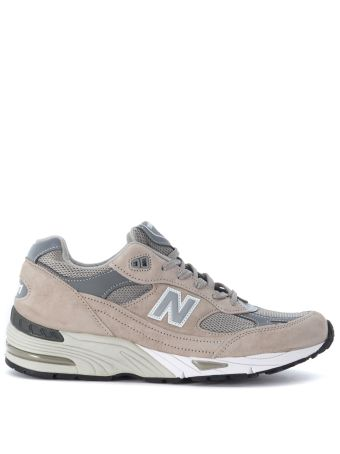 Sneaker New Balance 991 Limited Edition In Mesh Fabric And Grey Leather
