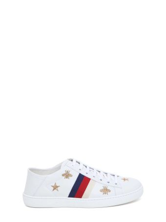 Gucci Ace Low-top Sneaker With Foldable Back