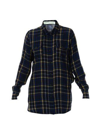 Blue Check Long Shirt