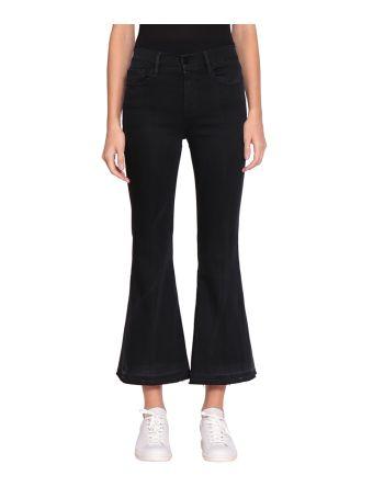 Frame Le Crop Flare Cotton Jeans