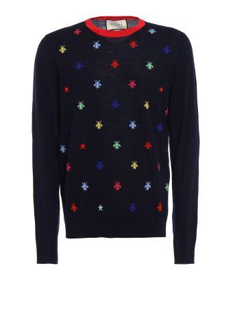 Gucci Fine Wool Intarsia Multicolor Knit Bee