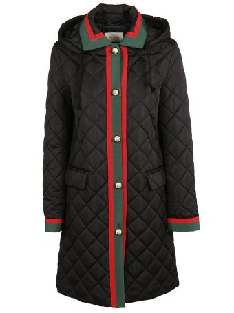 Gucci Quilted Web Coat