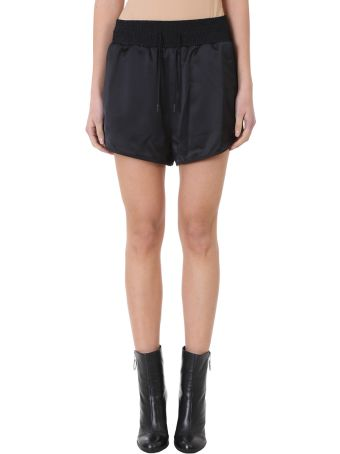 Off-White Black Satin Cargo Pajama Shorts