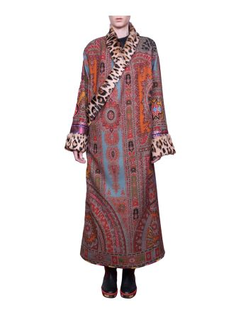 Etro Printed Wool Coat