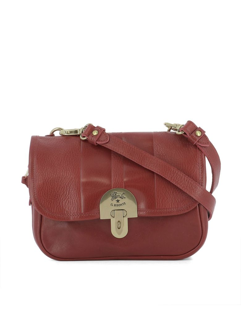 Il Bisonte Red Leather Shoulder Bag