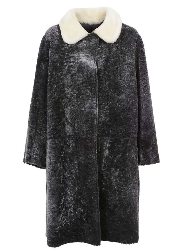 Sofie D'hoore Sofie D' Hoore Fur Applique Coat