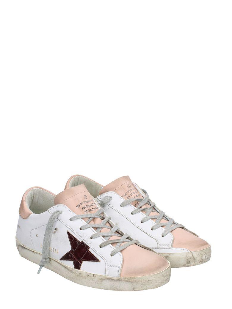 GOLDEN GOOSE Superstar White Pink Sneakers