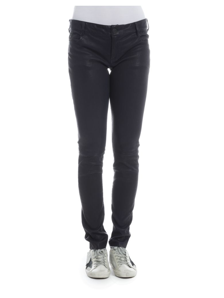 Drome Navy Leather Pants