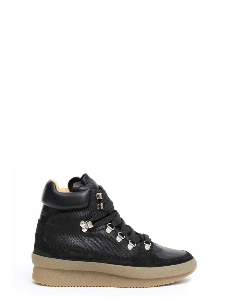ISABEL MARANT ETOILE BRENT HIKING BOOTS IN BLACK