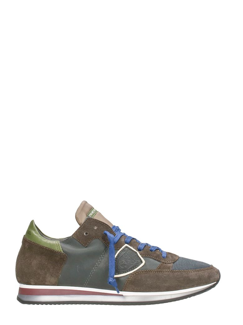 Philippe Model  TROPEZ BROWN TRAINERS