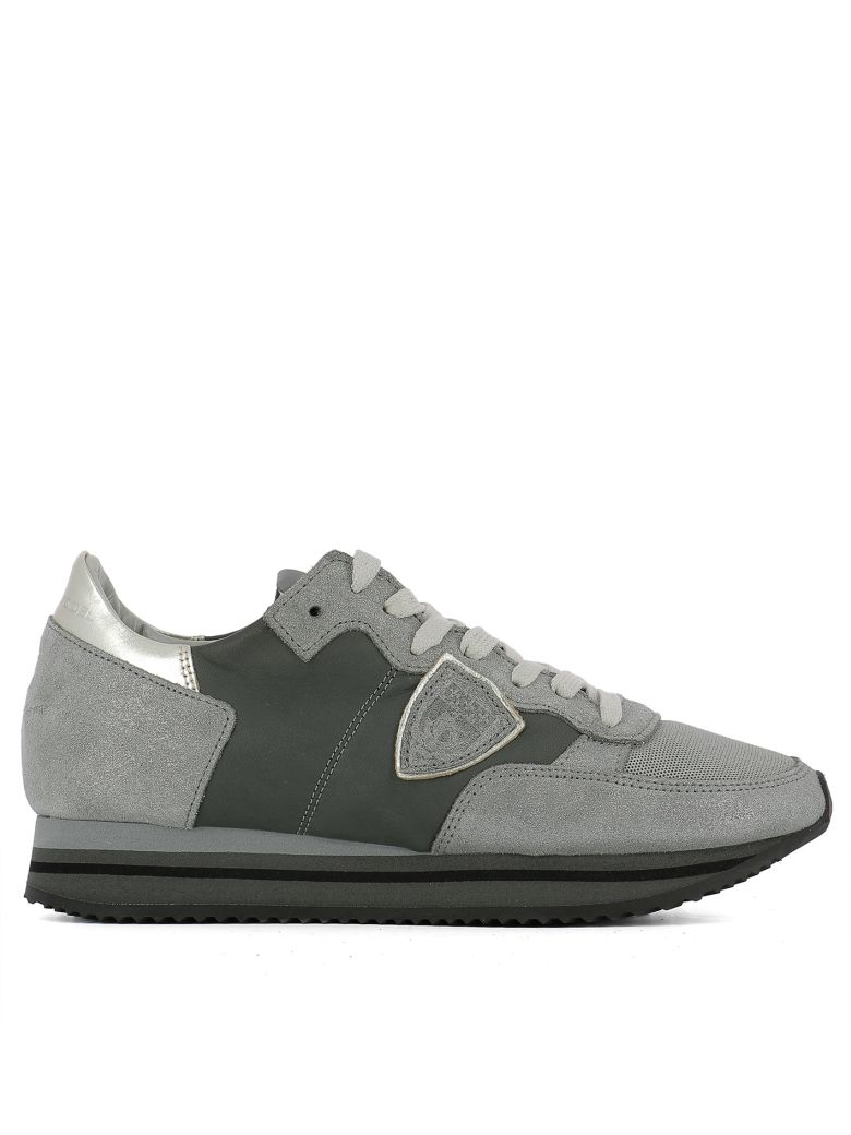 Philippe Model  GREY LEATHER SNEAKERS