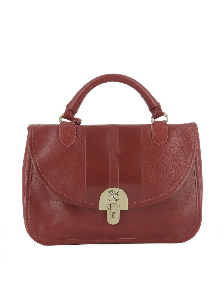 Il Bisonte Red Leather Handle Bag