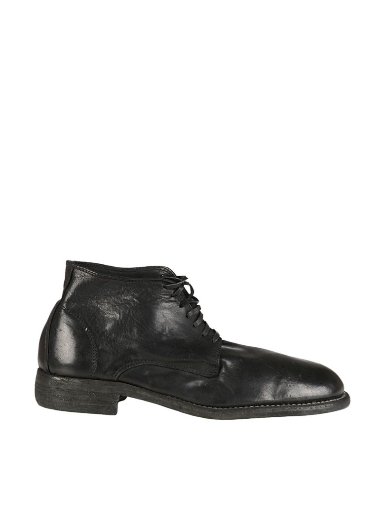 GUIDI Round toe lace