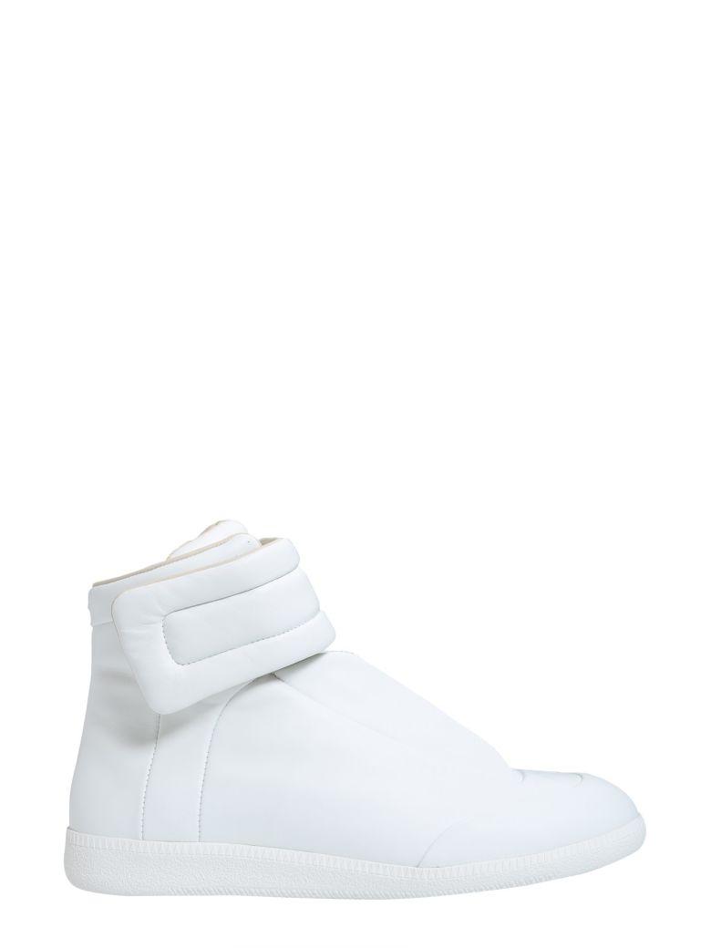 MAISON MARGIELA Future Full-Grain Leather And Neoprene High-Top Sneakers in Black