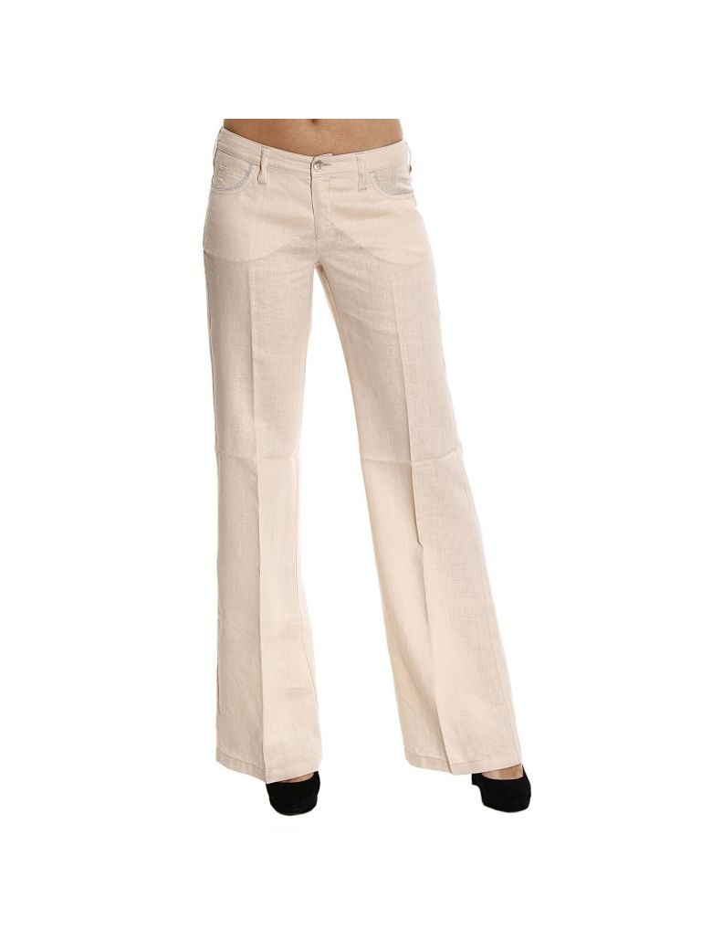 Armani Jeans Jeans Jeans Lino Dettagli Lurex Zampa