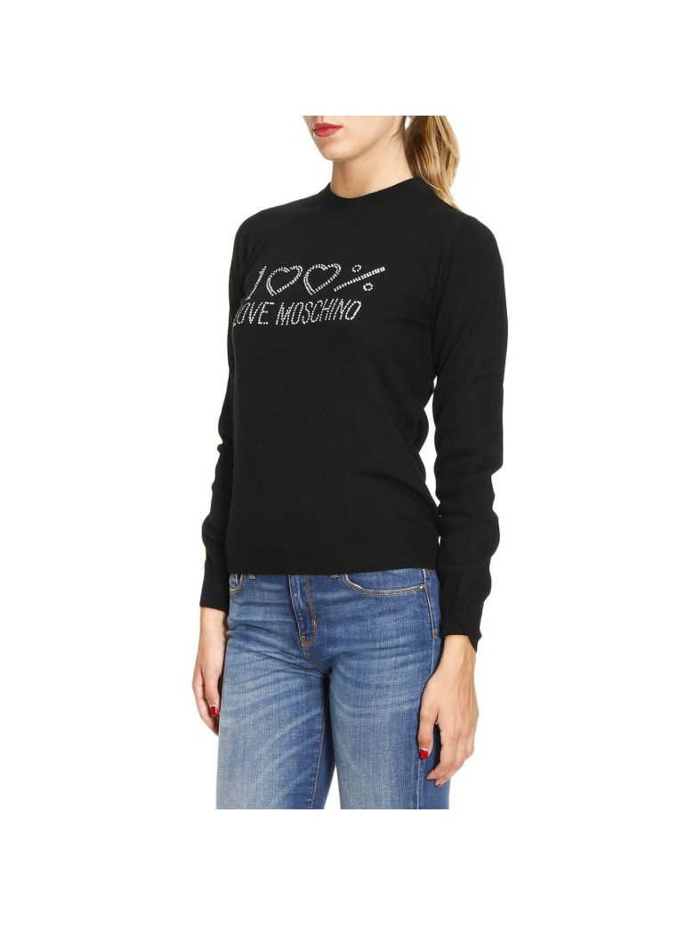 love moschino sweater sweater women moschino love in black modesens. Black Bedroom Furniture Sets. Home Design Ideas