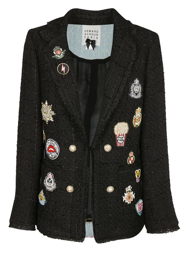 Edward Achour Edward Achour Patches Blazer