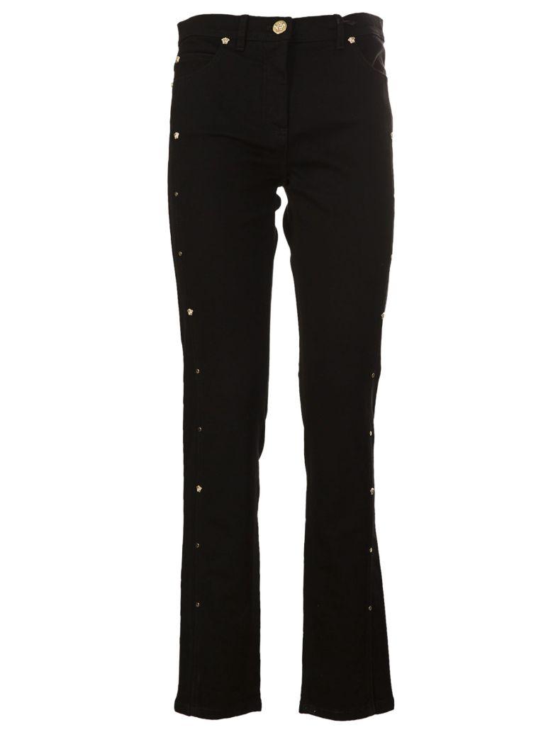 Versace Versace Medusa Stud Cropped Jeans