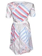 Tommy Hilfiger Patchwork Print Flared Dress