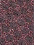 Gucci Wool GG Jacquard Pattern Knit Scarf