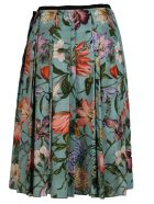 Gucci Pleated Blooms Print Skirt