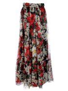 Dolce & Gabbana Daisy and Poppy Print Maxi Skirt