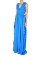 MSGM Fluted Ruffles Chiffon Maxi Dress